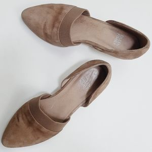 NWOT Eileen Fisher tan suede heels